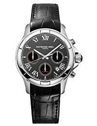 RAYMOND WEIL Parsifal Leather Chronograph Mens Watch 7260-STC-00208