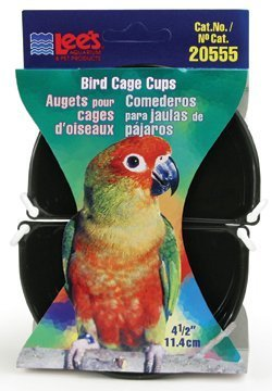 Lee's Pet Products BLE20555 2-Pack Lees Bird Cage Cup, 4-1 2-Inch by TopDawg Pet Supply