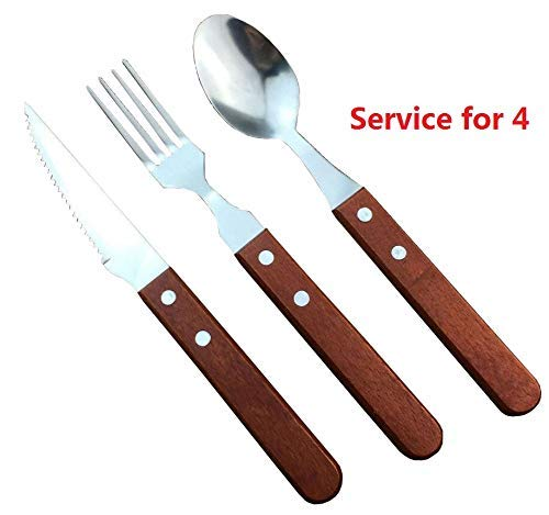 Amazon.com: MBB cubiertes Set Cena Cuchillo Tenedor Cuchara ...