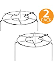 (Round Steamer Rack) - Tall Steam Rack Stand, Heavy Duty Stainless Steel Multifunction Basket, Pressure Cooker Rack (Round Steamer Rack)
