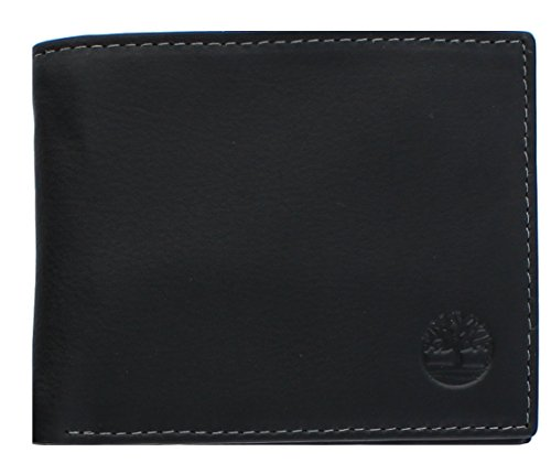 Bi Fold Exclusive Wallet - Timberland Men's Exclusive Fine Blix Leather Bifold Passcase Wallet (BLACK)