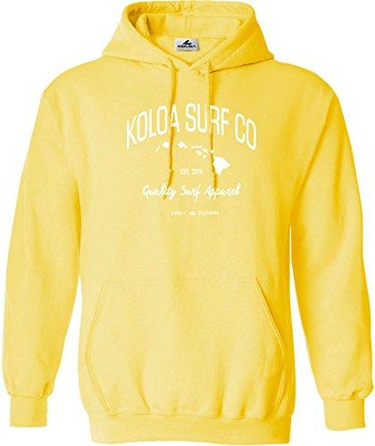 (Joe's USA Koloa Islands Logo Hoodie-Hooded Sweatshirt-Yellow/w-XL)