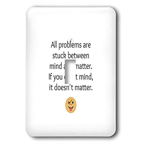 3dRose Nicole R - Quote - Image of All Problems Are Stuck In Between Mind And Matter - 2 plug outlet cover (lsp_309061_6)