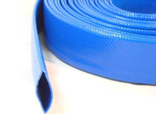 I/D 2 5/8'' 65mm 33ft 10meter Layflat PVC Water Delivery Hose Discharge Pool Pump Irrigation Blue Fire Tubing by SM HOSE