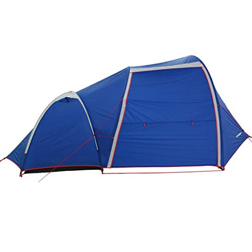 DL Adventure Camel2 Roomy Shelter Motorcycle Tent, Lightweight/Small Pack Size, Waterproof/UV-Resistant/CPAI84 Certified Durable Fabric Full Coverage Rainfly, Detachable 2-Person Mesh Inner Tent