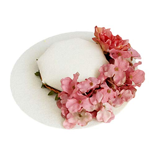 Lurrose Flower Hat Hair Clip Wedding Party Hat Hairpin Decor Fancy Hair Accessories