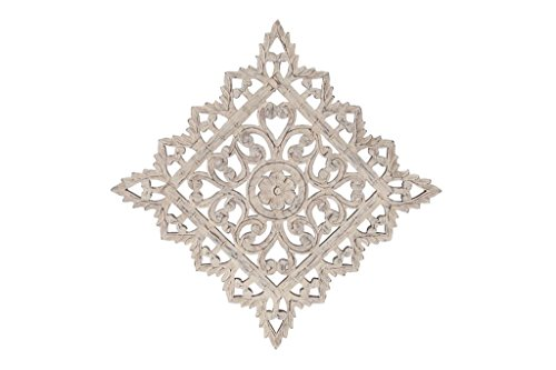 Rosette Design Wall Decor (Deco 79 Lilly Pad Wall Installation)