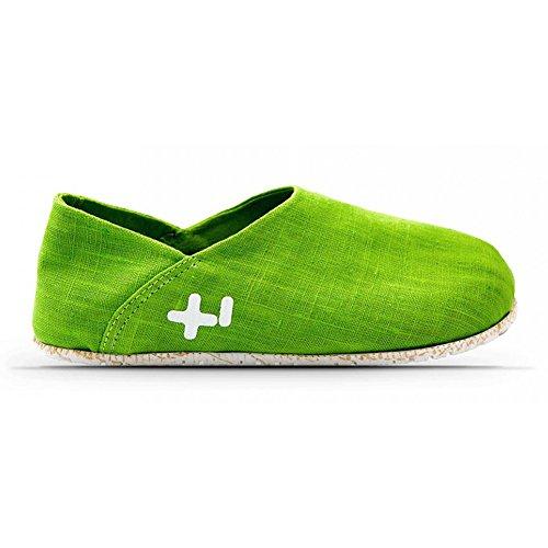 (OTZ Shoes Unisex OTZ300GMS Linen Slip-On, Fluro Green, 39 EU (9 M US Women))
