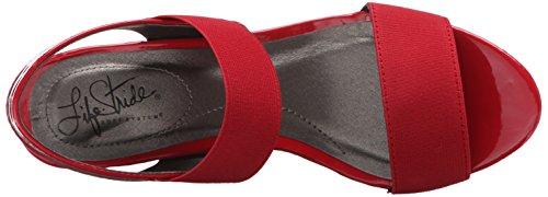 Red Women's Sandal Ellusive LifeStride Wedge wxqRXc0Ap