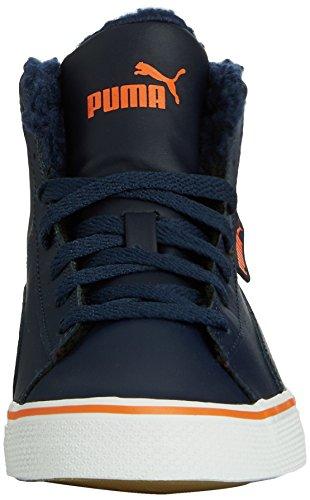 Puma Puma 1948 Mid Vulc Perf, Baskets hautes mixte adulte Bleu - Blau (peacoat-peacoat 02)