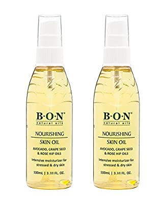 B.O.N Nourishing Skin Oil - Special All Natural Toning Blend for Pregnancy to Help Reduce Stretch Marks. Conditions Itchy Tummies and Boosts Elasticity. Light Formula for Maximum Care. 3.38FL OZ.