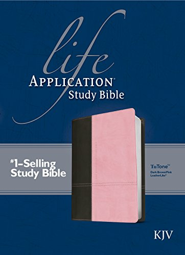 KJV Life Application Study Bible, Second Edition, TuTone (Red Letter, LeatherLike, Dark Brown/Pink)