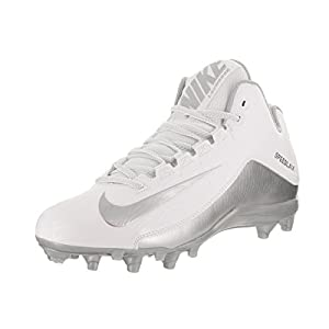 NIKE Mens Speedlax 5 Mens Lacrosse Football Cleat - White/Silver (8 D(M) US, White/Mtllc Silver)