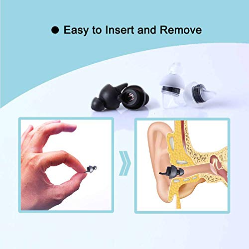 LYSIAN Ear Plugs for Sleeping, Reusable Noise Reduction Soft Silicone Ear Plugs, 27 db NRR Comfortable Ear Plugs for Hearing Protection, Snoring, Work, Travel and Loud Events by LYSIAN (Image #3)
