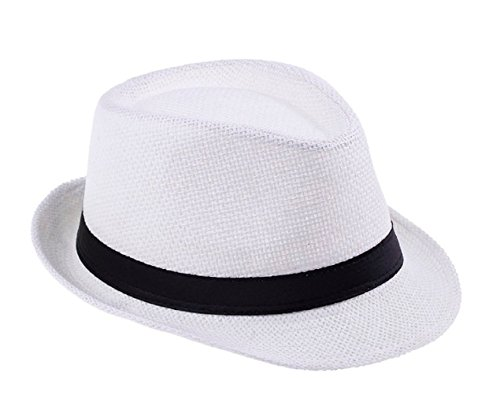 HOT Sale! Men Straw Fedora cap Trilby Chapeu
