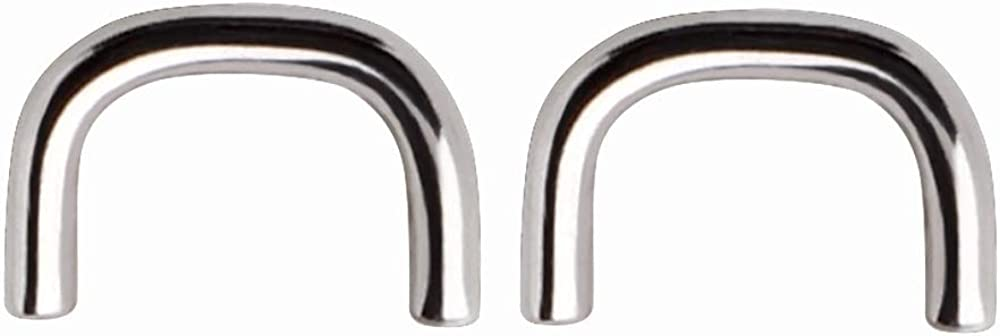 of 316L Surgical Steel Short Staple Shaped Septum Retainers 2 Pierced Owl Pair
