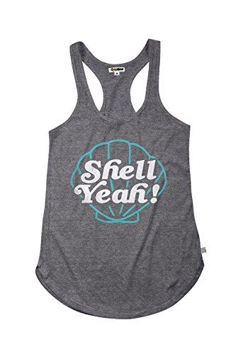 TipsyElves Women's Funny Summer Workout Tank Tops,Shell Yeah,Medium