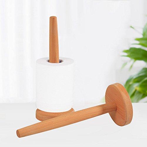 Toalla de papel soporte de madera de toalla de papel de pie de bambú soporte de xiaolanwelc