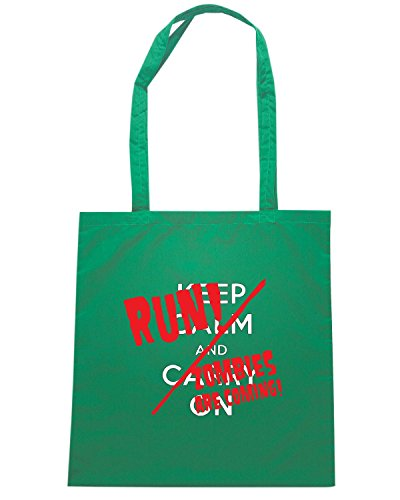 T-Shirtshock - Bolsa para la compra OLDENG00843 keep calm and Verde