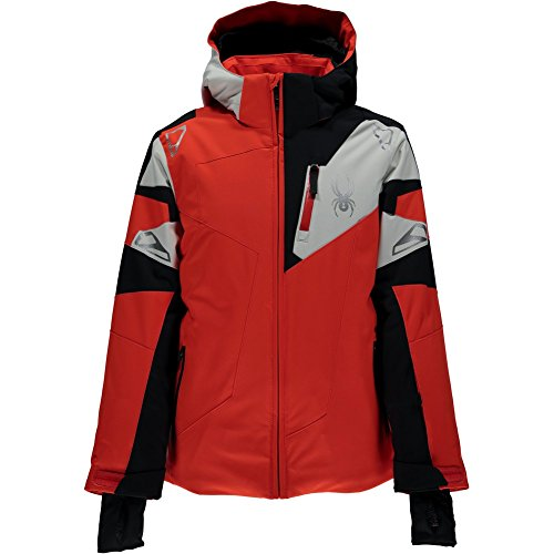 - Spyder Boys' Leader Jacket (Big Kids), Rage/Black/Cirrus, Size 18
