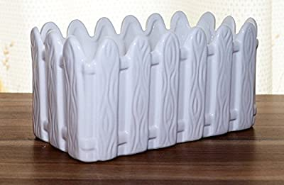 HanFengTang Ceramic Wooden fence rectangular flower pots