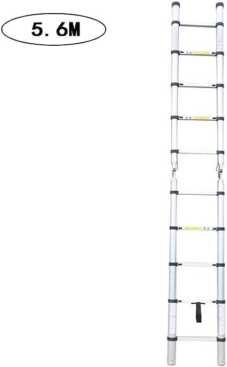 XUENUO 2.8M+2.8M Escalera Telescópica De Aluminio Escalera Extensible Multifuncional Portátil Extensión Telescópica Antideslizantes Portátil Carga 150Kg: Amazon.es: Deportes y aire libre