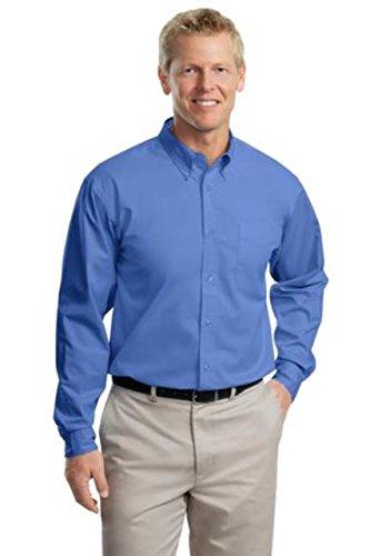 (Port Authority Tall LS Easy Care Shirt-4XLT (Ultramarine Blue))