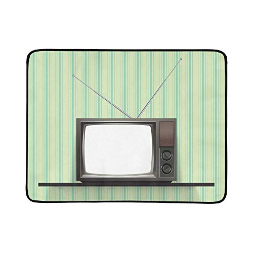 YSWPNA Blank Retro Tv Vintage Wallpaper Realistic Portable a