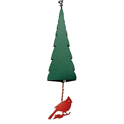 North Country Wind Bells Pointed Fir of the North with Cardinal - 3 Tones