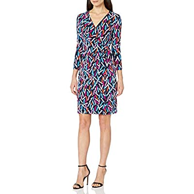 Anne Klein Women's Classic Faux Wrap Dress at Women's Clothing store