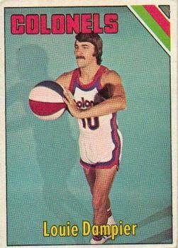 1975 Topps Regular (Basketball) Card# 270 Louie Dampier of the Kentucky Colonels ExMt Condition
