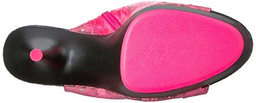 B Pink Blk Ankle Bootie Matte H Neon Tpu Del1018la Women's Nhptpu Pleaser qa1n8tZw