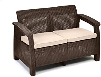 Keter Corfu Love Seat All Weather Outdoor Patio