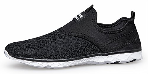 Blackwhite Drying Lightweight Athletic Water On Mesh Pooluly Womens Slip Aqua Shoes Quick wHqW5Pz7I