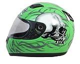 Daytona Helmets Shadow Green Skulls Full Face Helmet
