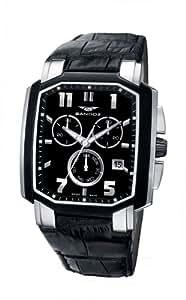 Sandoz 81291-55 - Reloj de caballero de cuarzo, correa de piel color negro