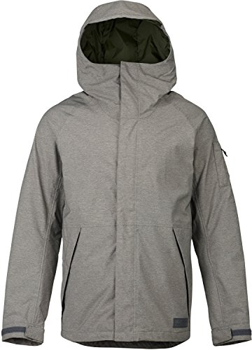 Burton Men's Hilltop Jacket, Shade Heather, (Burton Mens Hood Jacket)