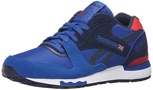 Reebok Men's GL 6000 Athletic Classic Shoe, Collegiate Royal/Collegiate Navy/Scarlet, 11 M (Collegiate Royal Footwear)