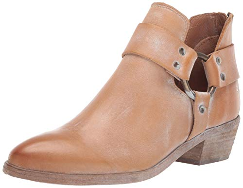 FRYE Women's RAY Harness Back Zip Ankle Boot, tan, 8.5 M US