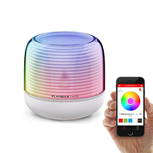 PLAYBULB LED Candle, Smart Bluetooth Flameless Candle, Color Changing Battery Operated Rechargeable Electric Candle with Timer and APP Remote Control for Party/Candle Holder/Night Light/Wedding Decor