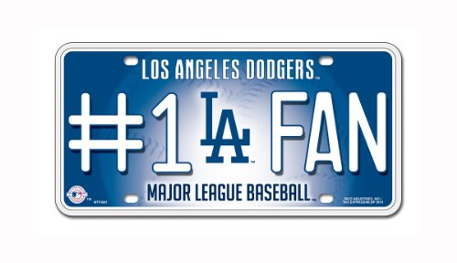 MLB Los Angeles Dodgers #1 Fan Metal Tag