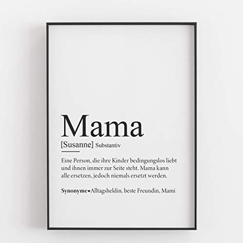 online store f5daf 145c8 Mama Geschenk Muttertagsgeschenk personalisiert Geburtstagsgeschenk Mutter  Defintion Kunstdruck persönlich - ungerahmt