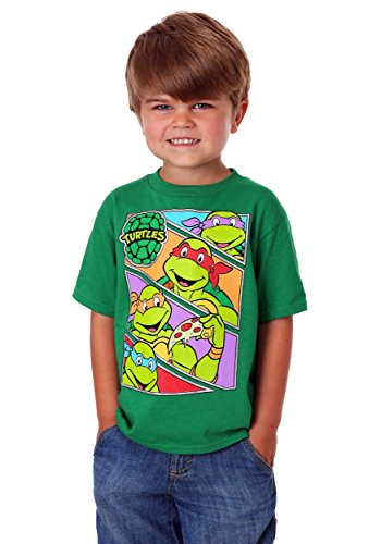 Teenage Mutant Ninja Turtles Little Boys' Toddler Group T-Shirt, Kelly Green