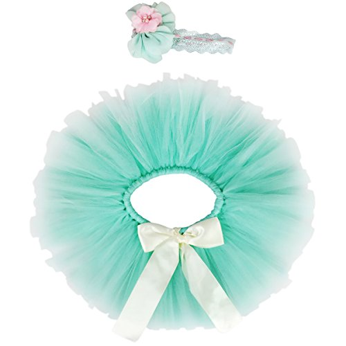 Jastore Newborn Girls Photo Photography Prop Tutu Skirt Headband Outfits (Style 30)