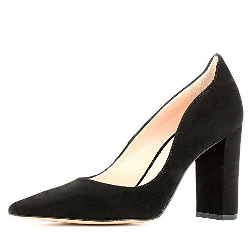 Daim Escarpins Natalia Shoes Noir Femme Evita OW6axff