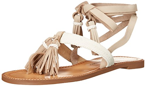 (Chinese Laundry Women's Giordana Flat Sandal, Cream Leather,  8 M)