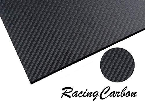 (RacingCarbon 500X400X3.0MM 100% 3K Full Carbon Fiber Sheet - 3mm Thick - Twill Weave Matte Surface)