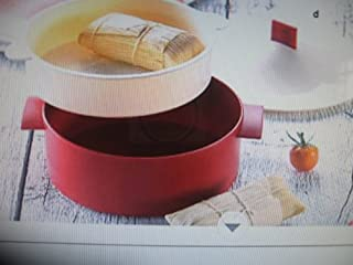 Tupperware Red and White Microwave Steamer (B003C0DC00)   Amazon price tracker / tracking, Amazon price history charts, Amazon price watches, Amazon price drop alerts