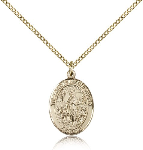 18 Chain Religious Obsession Gold Filled Lord Is My Shepherd Pendant