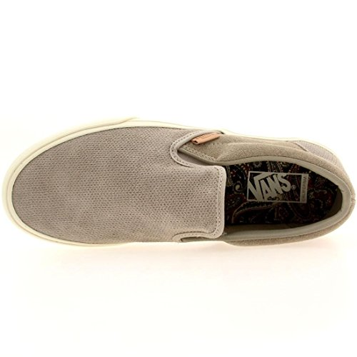 f21046fe08 Vans Mens Classic Slip-On Ca (Knit Suede) Aluminum VN-0IL5ETF - Import It  All